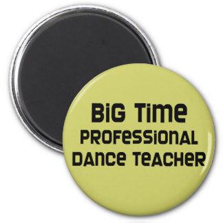 Profesor profesional de la danza de la primera imán redondo 5 cm