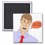 Profesor que grita iman para frigorífico