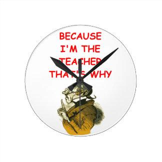 profesor reloj