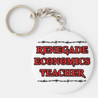 Profesor renegado de la economía llavero personalizado