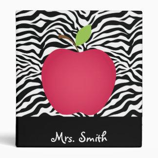 Profesor rojo de Apple del estampado de zebra