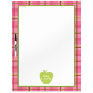 Profesor rosado de Apple del verde de la tela Pizarras