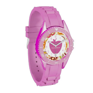 Profesor rosado de Apple Paisley Relojes De Pulsera
