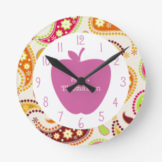 Profesor rosado de Apple Paisley Relojes