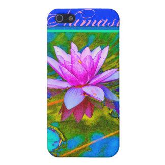 Profesor rosado Painterly de la yoga de Lotus Nama iPhone 5 Funda