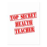 Profesor secretísimo de la salud tarjetas postales