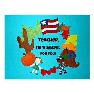 ¡Profesor, soy agradecido para usted! Tarjeta Postal