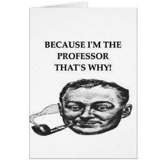 profesor tarjeta