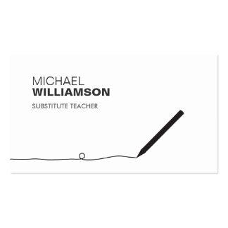 Profesor, tarjeta de visita del lápiz del educador