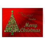 Profesor, un oro y tarjeta de Navidad roja del efe