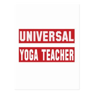 Profesor universal de la yoga tarjeta postal
