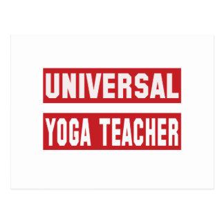 Profesor universal de la yoga tarjetas postales
