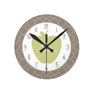 Profesor verde de Apple Brown Quatrefoil Reloj