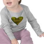 Profesor verde del corazón camiseta