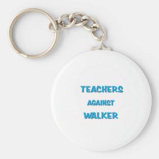 Profesores contra caminante llavero redondo tipo pin
