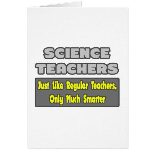 Profesores de ciencias… más elegantes tarjeta de felicitación