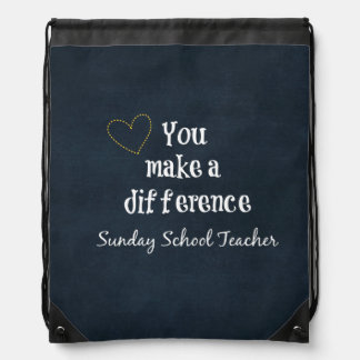 Profesores de escuela dominical mochila