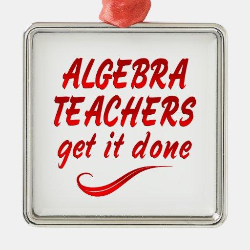 Profesores de la álgebra adornos