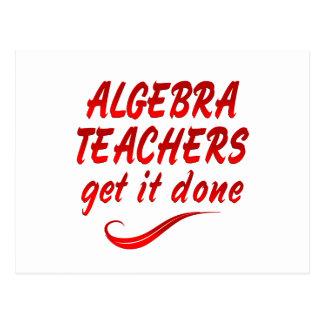 Profesores de la álgebra tarjeta postal