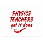 Profesores de la física postal