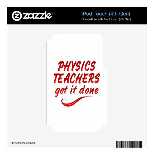 Profesores de la física calcomanía para iPod touch 4G