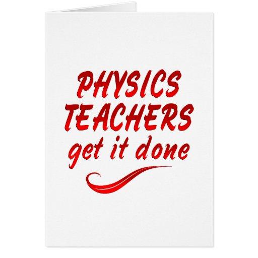 Profesores de la física tarjeta