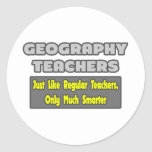 Profesores de la geografía… más elegantes pegatina