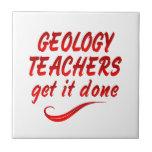 Profesores de la geología azulejo ceramica