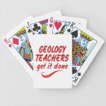 Profesores de la geología baraja cartas de poker