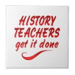Profesores de la historia azulejo