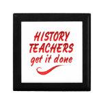 Profesores de la historia cajas de joyas