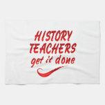 Profesores de la historia toallas de cocina