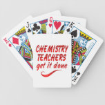Profesores de la química baraja de cartas