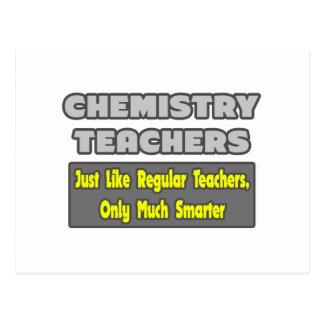 Profesores de la química… más elegantes tarjetas postales