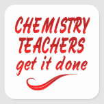 Profesores de la química pegatina cuadrada