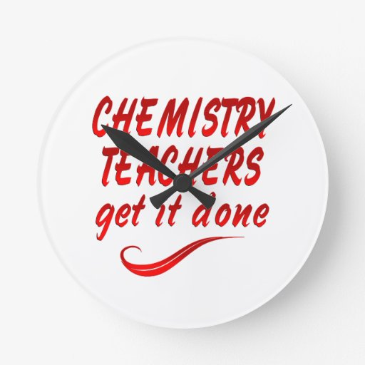 Profesores de la química relojes de pared