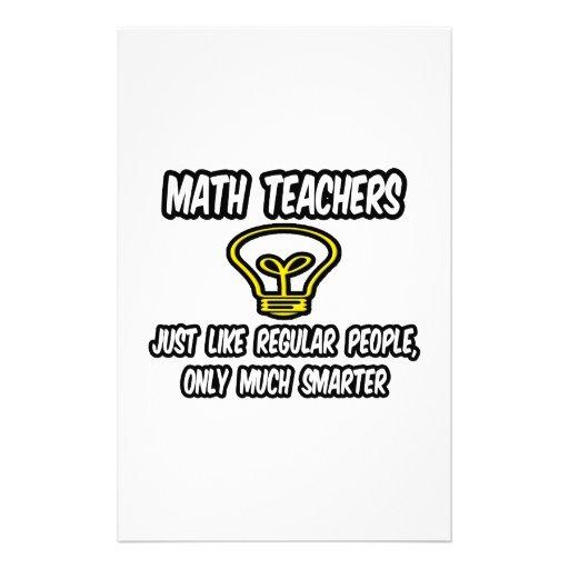 Profesores de matemáticas… como la gente regular,   papeleria de diseño