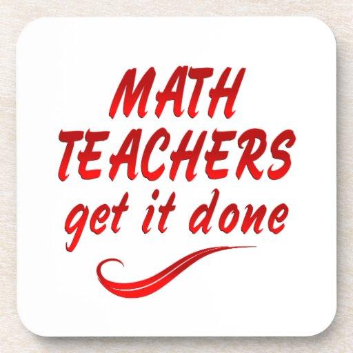 Profesores de matemáticas posavasos