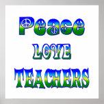 Profesores del amor de la paz impresiones