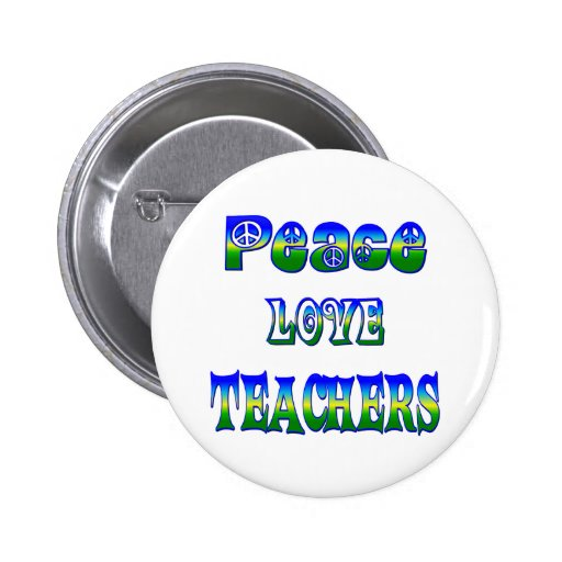 Profesores del amor de la paz pins