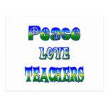Profesores del amor de la paz postal