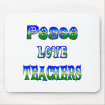 Profesores del amor de la paz alfombrillas de ratón