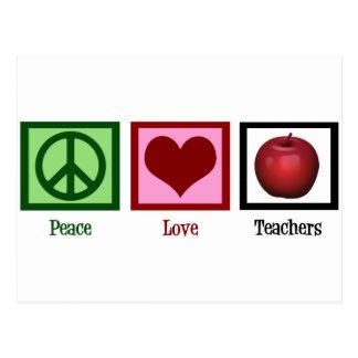 Profesores del amor de la paz tarjetas postales