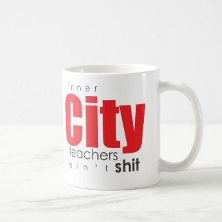 Profesores del centro urbano taza de café