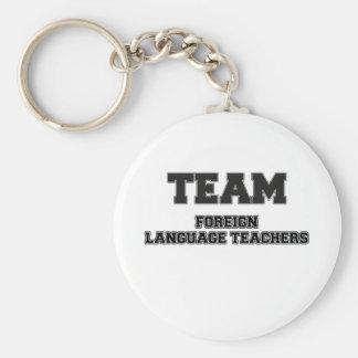 Profesores del idioma extranjero del equipo llavero
