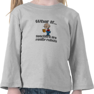 profesores del robot camisetas