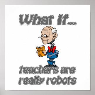 profesores del robot póster