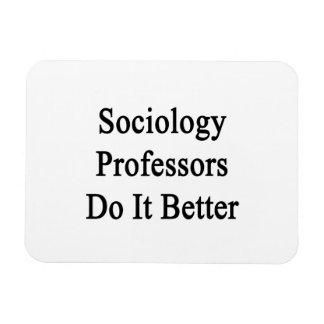 Profesores Do It Better de la sociología Imanes Rectangulares