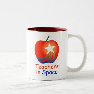 Profesores en taza del Dos-Tono del espacio