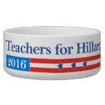 ¡Profesores para Hillary Clinton en 2016! Tazones Para Perro